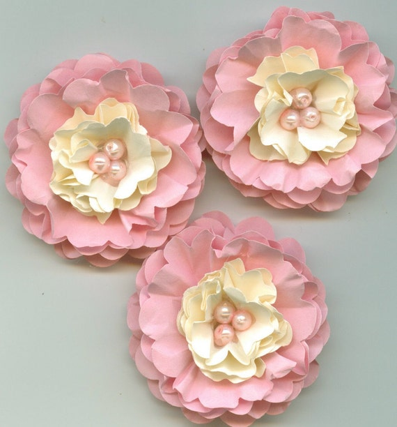 Our Little Angel Inspired Pink Pearl Peony Paper Flowers