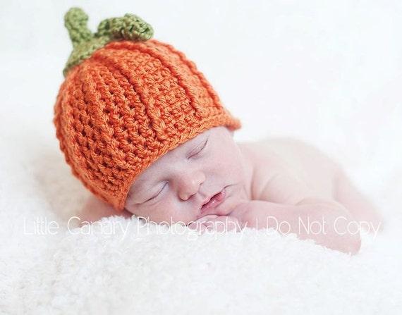LI'L PUMPKIN - Pumpkin Hat/Beanie for Newborn/Baby/Toddler/Child