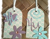 FOUR Retro Daisies For You Handmade All Occasion Gift Tags