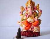 A Wonderful Little Lord Ganesha Position Sit on his Rat
