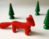 SALE / small small knitted FOX  /  eco friendly  gift /  ready to ship