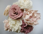 BRIDAL BOUQUET / handmade felted beauty /  7 flowers / made to order