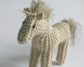 knitted toy horse pony / eco kids  / baby or todler gift / ready to ship