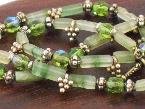 Jade Choker //Green Necklace//Gemstone Choker//Good Luck Necklace// May Birthstone Necklace