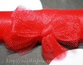 Roses are Red - 3 New Yards of 6-Inch Tulle - Made in the U.S.A. and Flame Retardant - baby showers, birthdays, bridal, girls, child/children friendly, clothing, favors, girls, hair/jewelry accessories, kids, love, party/table decorations, tutus, weddings