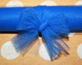 Superman - 3 New Yards of Royal Blue 6-Inch Tulle - Made in the U.S.A. and Flame Retardant - baby/bridal showers, boys, candles, card/doll making, clothing, cute, favors, girls, girly, hairbows/jewelry accessories, party/table decorations, tutus, weddings