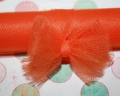 Tangerine Dream - 3 New Yards of Orange 6-Inch Tulle - Made in the U.S.A. and Flame Retardant - baby/bridal showers, birthdays, girls, child/children friendly, clothing, favors, flower girls, hair/jewelry accessories, kids, net, nylon, tutus, weddings