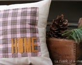 Home Plaid Pillow