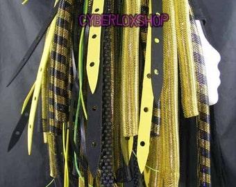 Cyberlox Dread Goth Yellow Black YellowWeb Hair Falls