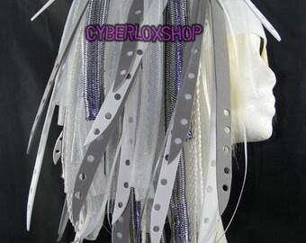 Cyberlox Dread Goth Silver White SilverBleach Hair Falls