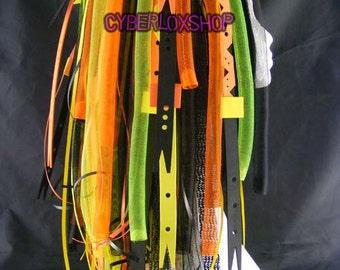 Cyberlox Dread Goth Neon Orange Yellow Mega Mutant Hair Falls