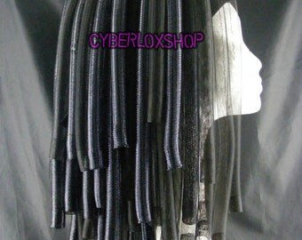 Cyberlox Dread Goth Black Gemini Hair Falls