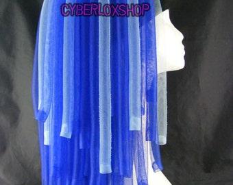 Cyberlox Dread Goth Blue Gemini Hair Falls