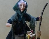 La Befana, the Christmas Witch, ooak miniature doll
