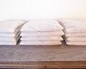 Natural organic Lemongrass flax seed neck pillow | nerves herbal heat pack, meditation & aromatherapy pillows | hemp fabric and zero waste