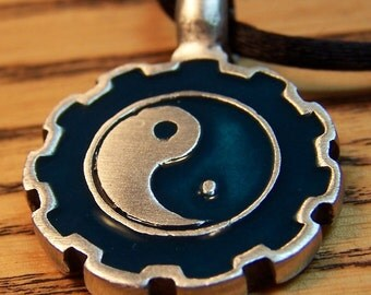 Yin Yang Pendant, Men or Women, Mens Mans Jewelry,  Tao, Asian, Chinese Luck, Happiness, Joy, Harmony, Life Energy, Wholeness, Father's Day