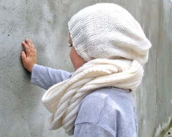 Kids Boys Accessories Hats/Scarves Knitted Hat and infinity Scarf