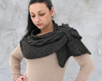 Women / Accessories Scarves Airy knit Shawl/scarf dark brown