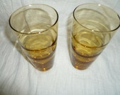 Amber Drinking Glasses 1970s era