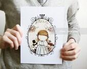 Alice  - 6x8 cute art print