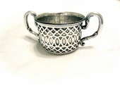 Vintage Sterling Silver Sugar Cup with Handles