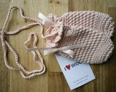 Pink Crocheted Baby Mittens 8-14 Months