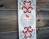 Birthday Calendar - Norwegian Folk Motive ///NEW REDUCED PRICE///
