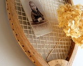 Vintage Tennis Racquet / Wright & Ditson / Wall Hanging / Upcycled Repurposed / Antique Racket / Shabby Cottage Chic / Farmhouse Decor