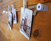 Photo Display | Memo Board Wall Hanging | Knob and Tube | Photo Display Kit | Rustic Office Decor