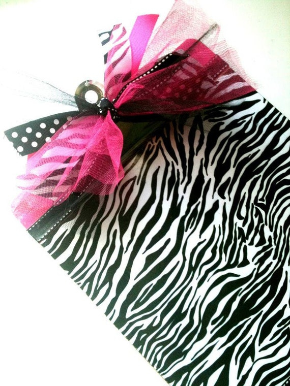 Pink and Zebra Clipboard