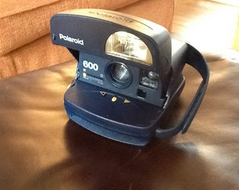Blue Vintage Polaroid Camera