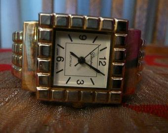 1980s Vintage Southwest Geneva Platinum Womens Watch