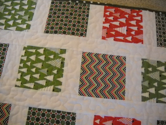 Trees and More Quilted Christmas Table Runner