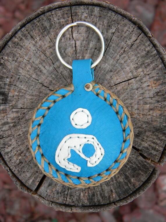 Breastfeeding Symbol Keychain (turquoise)