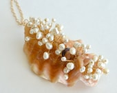 OOAK Pearl, Shell Necklace