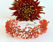 Swarovski Crystals Bib Statement Necklace