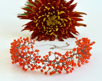 Swarovski Crystals Bib Statement Necklace