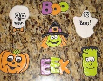 1 DZ  Decorated Halloween Sugar Cookies