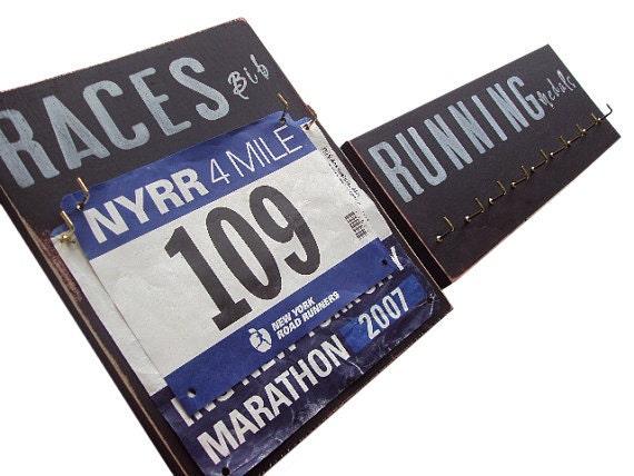 Race Medal And Bib Display Race Bib Display And Running