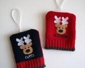 Reindeer Sweater Ornaments