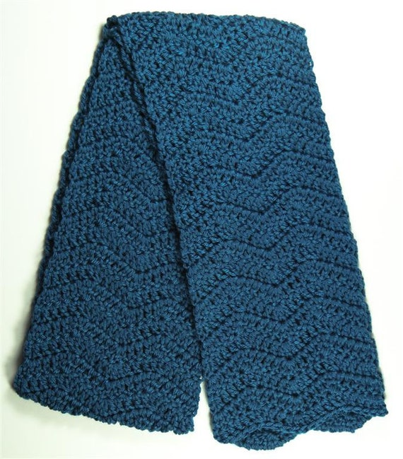 Teal Ripple Scarf - Ready to Ship