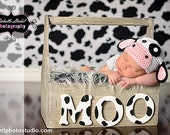 0-3 month size Moo Cow beanie