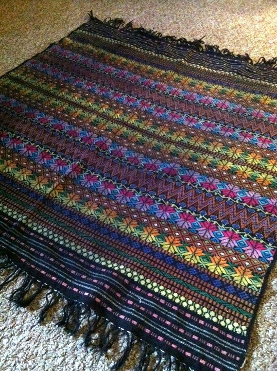 Technicolor Zig Zag Miniature Southwest Throw Rug