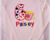 Custom Boutique Clothing Boy or Girls Birthday Carnival Movie Circus Popcorn Applique Shirt or Oneies Size 0-3mos to 8yr