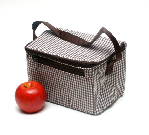 Brown Gingham Lunchbox