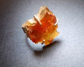 Sterling silver rough amber ring - genuine baltic amber fossil - size 6.5 - Gemstone jewelery by Lamazonian