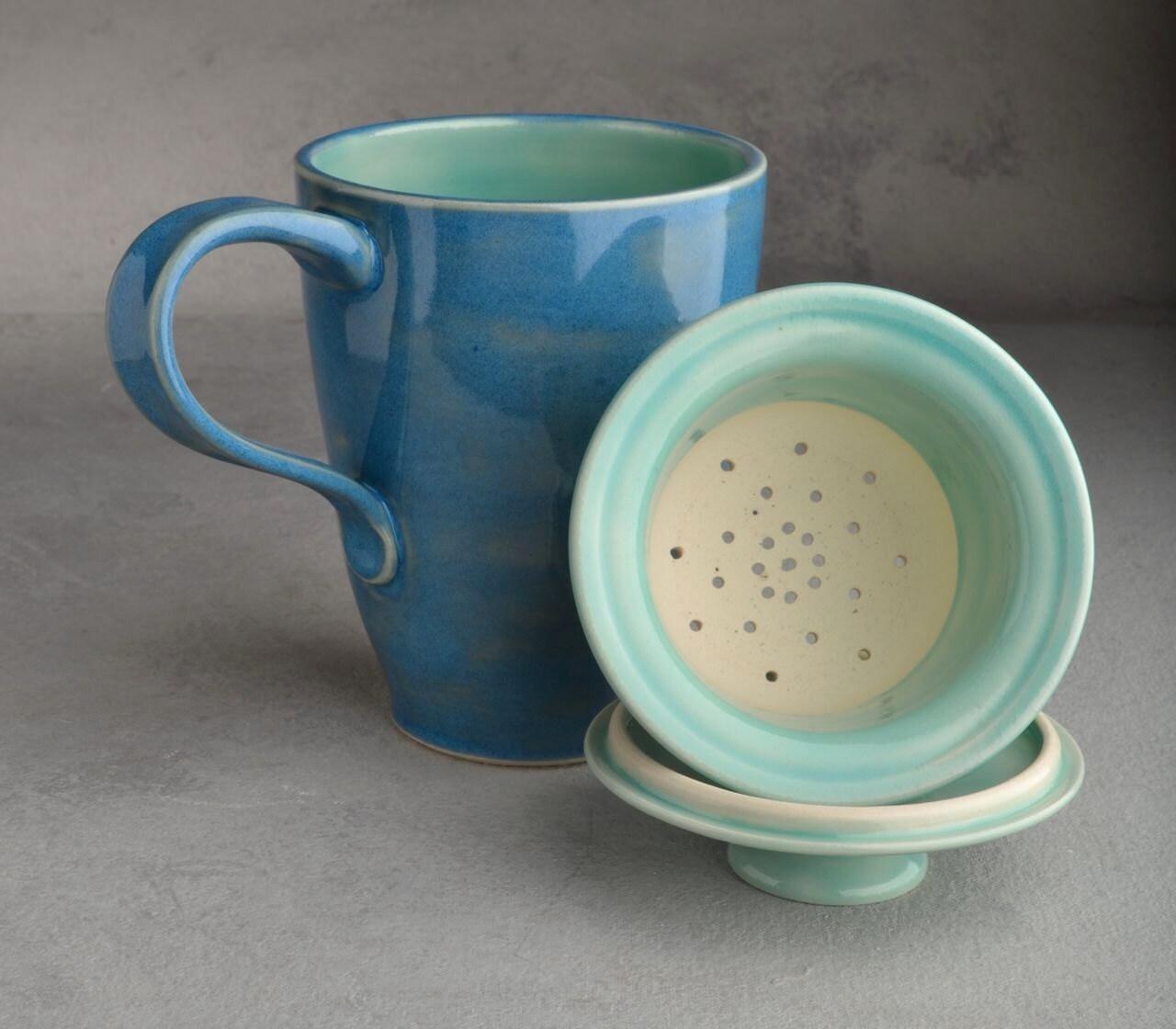 lidded tea mug made to order stoneware tea mug with lid and. Black Bedroom Furniture Sets. Home Design Ideas