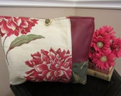 Stunning Red Floral Tote Bag