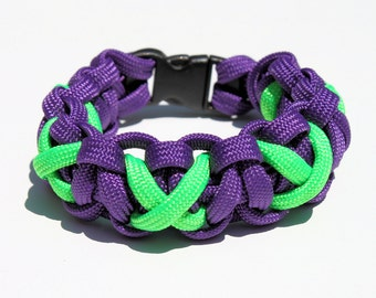 Paracord Survival Strap Bracelet Anklet Single Color X Marks the Spot With Buckle