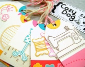SEW CUTE COLLECTION ...(My Little Shoebox) 6 Pack of Tags